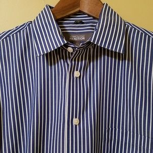 Kenneth Cole Reaction Striped Button Up Shirt